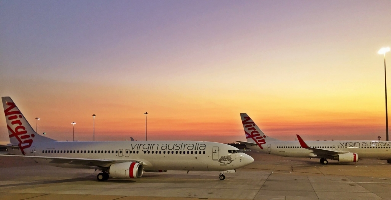 Virgin Australia Planes at Sunset
