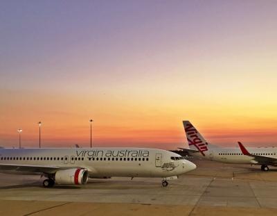 Virgin Australia Planes at Sunset